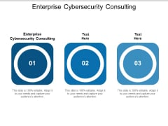 Enterprise Cybersecurity Consulting Ppt PowerPoint Presentation Styles Example Cpb