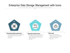 Enterprise Data Storage Management With Icons Ppt PowerPoint Presentation Gallery Graphics PDF