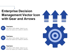 Enterprise Decision Management Vector Icon With Gear And Arrows Ppt PowerPoint Presentation Professional Ideas PDF