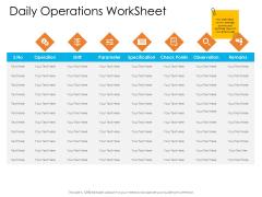 Enterprise Governance Daily Operations Worksheet Brochure PDF