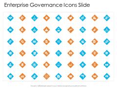Enterprise Governance Enterprise Governance Icons Slide Professional PDF