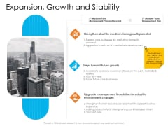 Enterprise Governance Expansion Growth And Stability Graphics PDF
