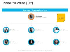 Enterprise Governance Team Structure Holder Icons PDF