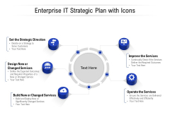 Enterprise IT Strategic Plan With Icons Ppt PowerPoint Presentation Portfolio Graphics Example