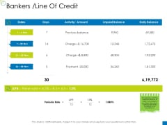 Enterprise Management Bankers Line Of Credit Background PDF