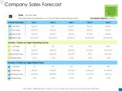 Enterprise Management Company Sales Forecast Elements PDF