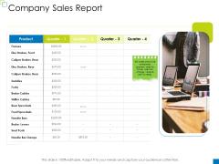 Enterprise Management Company Sales Report Inspiration PDF