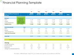 Enterprise Management Financial Planning Template Information PDF