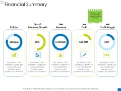 Enterprise Management Financial Summary Formats PDF