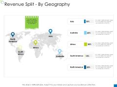Enterprise Management Revenue Split By Geography Background PDF