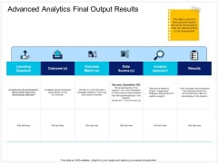 Enterprise Problem Solving And Intellect Advanced Analytics Final Output Results Metric Designs PDF
