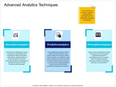Enterprise Problem Solving And Intellect Advanced Analytics Techniques Ppt PowerPoint Presentation Summary Outfit PDF