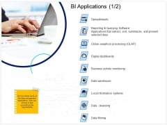 Enterprise Problem Solving And Intellect BI Applications Digital Dashboards Ppt PowerPoint Presentation Infographic Template Design Ideas PDF