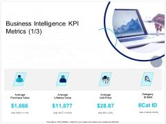 Enterprise Problem Solving And Intellect Business Intelligence KPI Metrics Price Ppt PowerPoint Presentation Gallery Graphics PDF