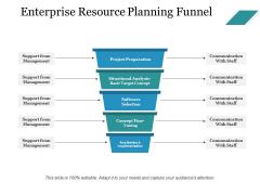 Enterprise Resource Planning Funnel Ppt PowerPoint Presentation Icon Ideas
