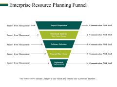 Enterprise Resource Planning Funnel Ppt PowerPoint Presentation Infographics Icons