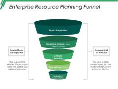 Enterprise Resource Planning Funnel Ppt PowerPoint Presentation Slide Download