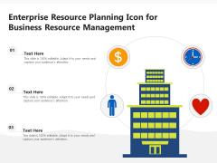 Enterprise Resource Planning Icon For Business Resource Management Ppt PowerPoint Presentation Gallery Graphics Tutorials PDF
