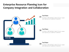 Enterprise Resource Planning Icon For Company Integration And Collaboration Ppt PowerPoint Presentation File Visuals PDF