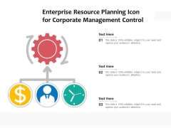 Enterprise Resource Planning Icon For Corporate Management Control Ppt PowerPoint Presentation Gallery Grid PDF
