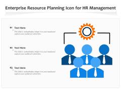 Enterprise Resource Planning Icon For HR Management Ppt PowerPoint Presentation Gallery Slides PDF