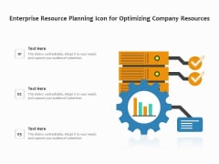 Enterprise Resource Planning Icon For Optimizing Company Resources Ppt PowerPoint Presentation File Outline PDF