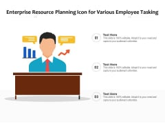 Enterprise Resource Planning Icon For Various Employee Tasking Ppt PowerPoint Presentation File Deck PDF