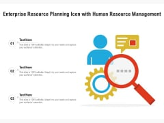 Enterprise Resource Planning Icon With Human Resource Management Ppt PowerPoint Presentation File Ideas PDF