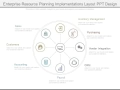 Enterprise Resource Planning Implementations Layout Ppt Design