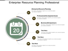 Enterprise Resource Planning Professional Development Goals Business Entrepreneurs Ppt PowerPoint Presentation Inspiration Styles
