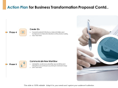 Enterprise Revamping Action Plan For Business Transformation Proposal Contd Ppt File Visual Aids PDF