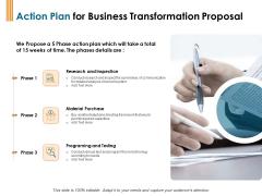 Enterprise Revamping Action Plan For Business Transformation Proposal Ppt Professional Slide PDF