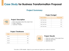 Enterprise Revamping Case Study For Business Transformation Proposal Ppt Layouts Infographic Template PDF