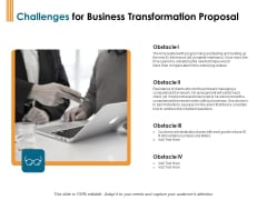 Enterprise Revamping Challenges For Business Transformation Proposal Ppt Icon Show PDF