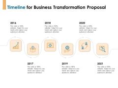 Enterprise Revamping Timeline For Business Transformation Proposal 2016 To 2021 Ppt Professional Good PDF