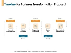 Enterprise Revamping Timeline For Business Transformation Proposal Ppt Infographic Template Clipart Images PDF