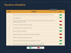 Enterprise Review Taxation Checklist Ppt File Guidelines PDF