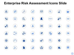 Enterprise Risk Assessment Icons Slide Gear Ppt PowerPoint Presentation Model Background Designs