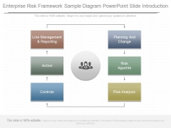 Enterprise Risk Framework Sample Diagram Powerpoint Slide Introduction