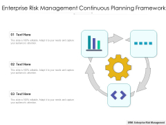 Enterprise Risk Management Continuous Planning Framework Ppt PowerPoint Presentation File Graphics Template PDF