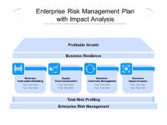 Enterprise Risk Management Plan With Impact Analysis Ppt PowerPoint Presentation Ideas Demonstration PDF