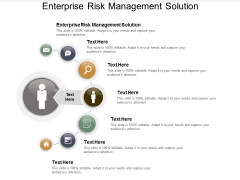 Enterprise Risk Management Solution Ppt Powerpoint Presentation Infographic Template Model Cpb