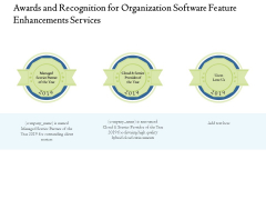 Enterprise Software Development Service Awards And Recognition For Organization Feature Enhancements Formats PDF