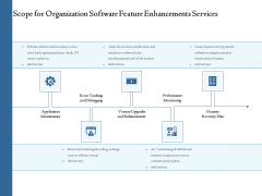 Enterprise Software Development Service Scope For Organization Feature Enhancements Information PDF