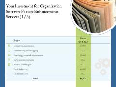 Enterprise Software Development Service Your Investment For Organization Feature Enhancements Services Professional PDF