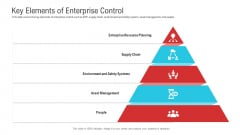 Enterprise System Business Administration Key Elements Of Enterprise Control Icons PDF