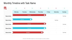 Enterprise System Business Administration Monthly Timeline With Task Name Professional PDF