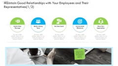 Enterprise Tactical Planning Maintain Good Relationships With Your Employees And Their Representatives Microsoft PDF