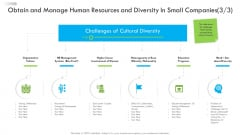 Enterprise Tactical Planning Obtain And Manage Human Resources And Diversity In Small Companies Culture Infographics PDF
