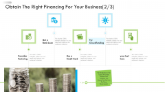 Enterprise Tactical Planning Obtain The Right Financing For Your Business Card Background PDF